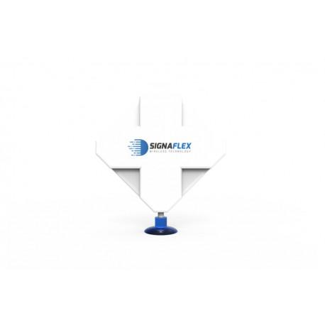 Antena X-CROSS 2x 22DBI 4G LTE 2x10m SMA